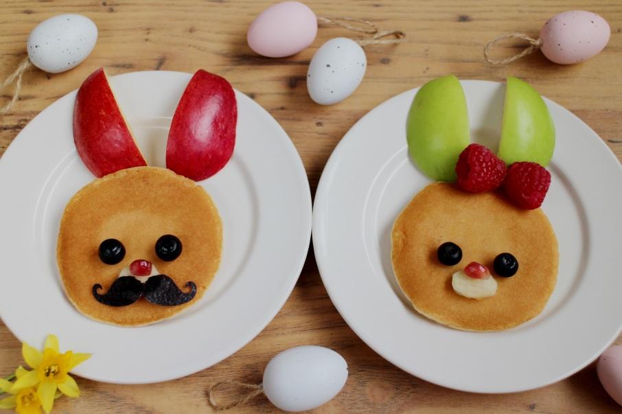 Easter dsy bunny pancake breakfast